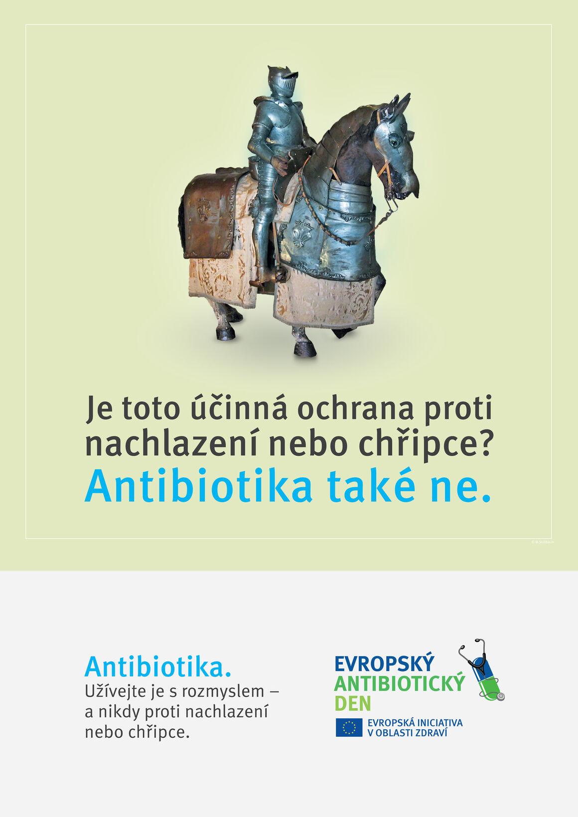 Plakáty: Je toto účinná ochrana proti nachlazení nebo chřipce? Antibiotika také ne.