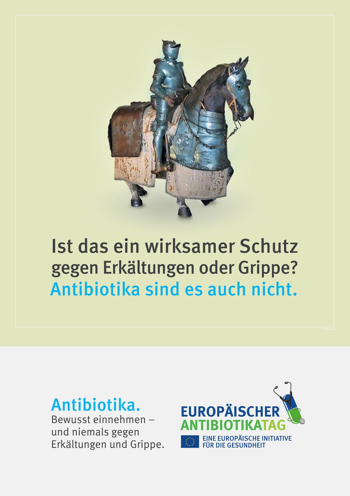 Poster: Ist das ein wirksamer Schutz gegen Erkältungen oder Grippe? Antibiotika sind es auch nicht.