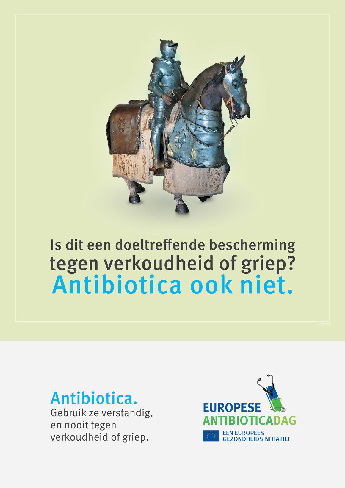 Posters: Is dit een doeltreffende bescherming tegen verkoudheid of griep? Antibiotica ook niet.