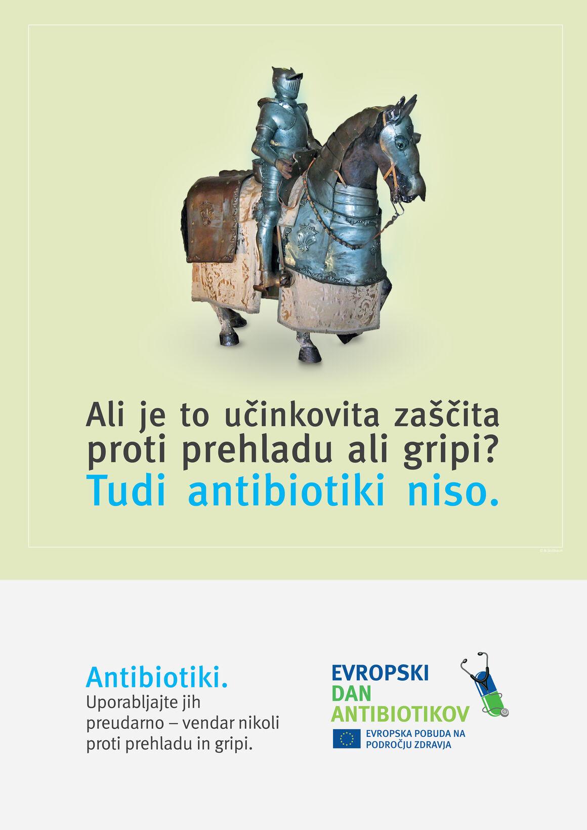 Plakāti: Ali je to učinkovita zaščita proti prehladu ali gripi? Tudi antibiotiki niso.