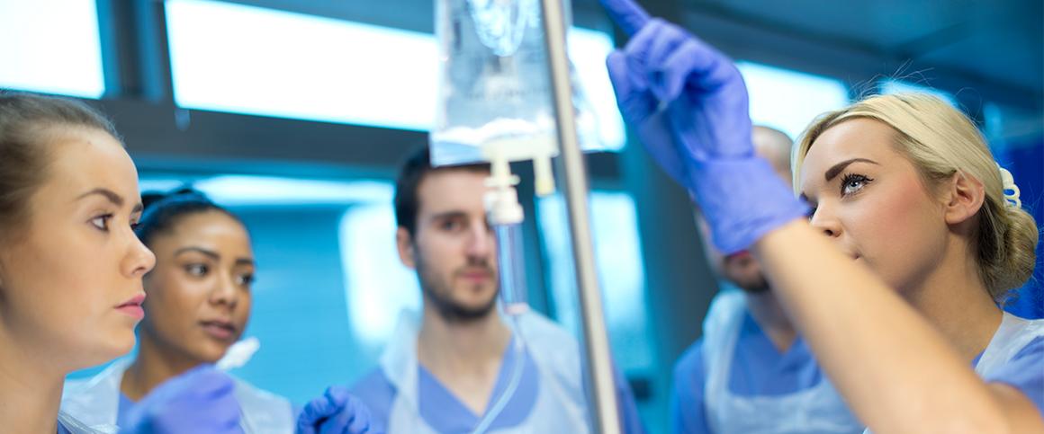 Antibiotics and doctors in hospitals