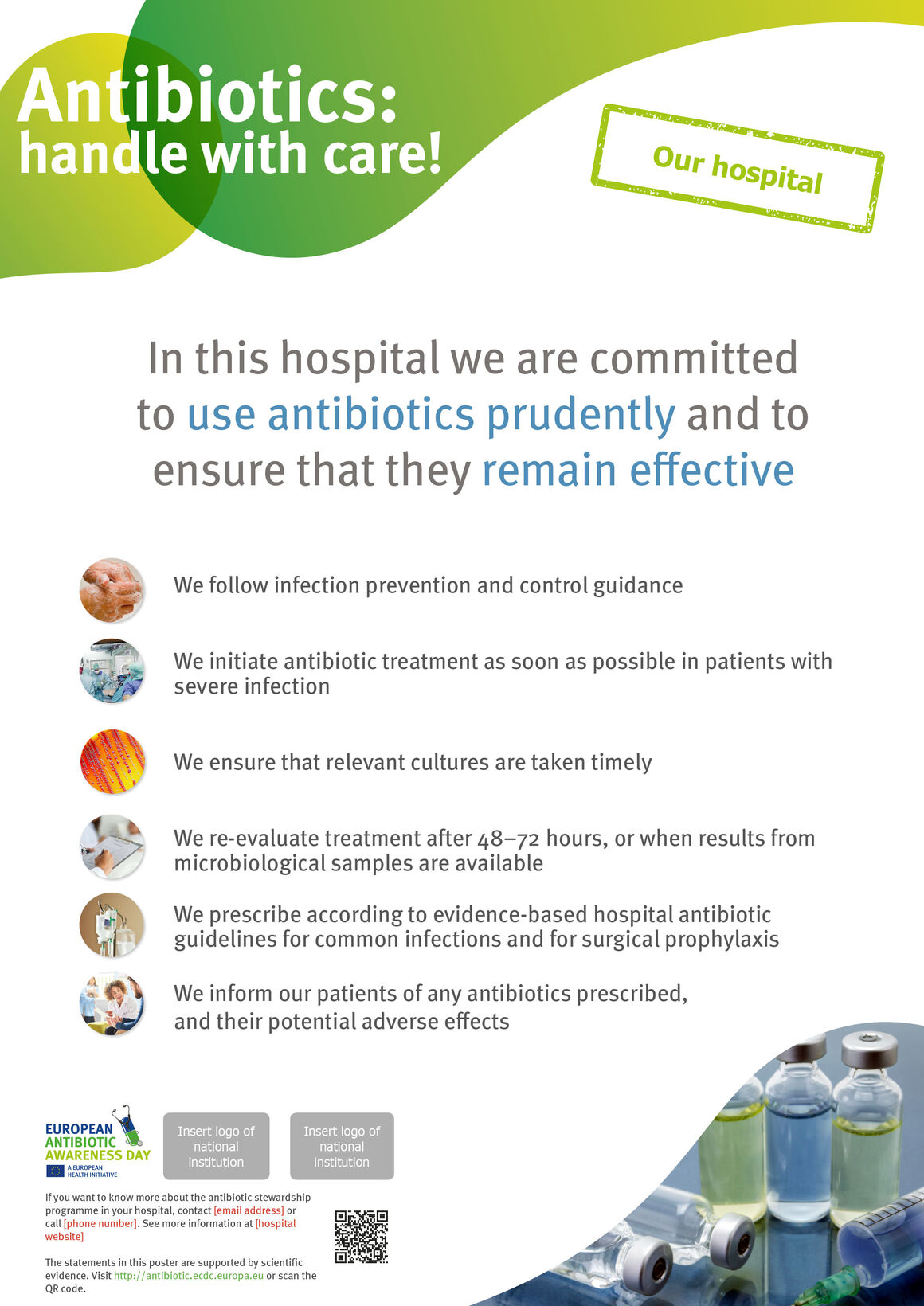 Advocacy poster for hospitals