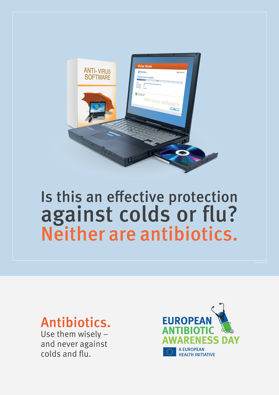 Poster: Is this an effective protection against colds or flu? Neither are antibiotics.